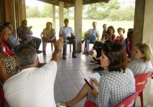 Membros do CCC em reunião no Centro Ambiental Afonso Schmidt